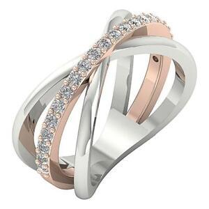 SI1 G 0.50 Ct Genuine Diamond 10.85.mm Split Shank Wedding Ring 14k Solid Gold