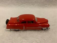 Busch Automodelle Ho Scale '52 American Cabriolet Hard Top Red 1:87 #43421 loose