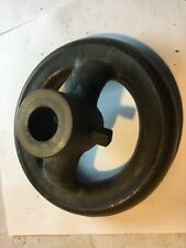 Industrial equipment wheel, 6 inch diameter. 3/4 inch thick, 7/8 inch center