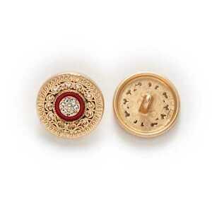 5pcs Retro Enamel Round Metal Buttons for Clothing Repair Sewing Handmade Decor