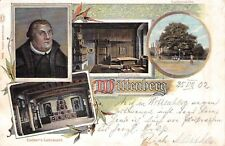 SELTEN 4-Bild Litho 1902 @Wittenberg@Lutherstube Luthereiche Luther's Lehrstuhl
