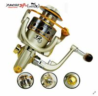 EF500-EF9000 Spinning Fishing Reel 12BB Metal Spool Folding Arm Left Right