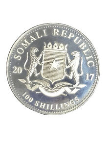 2011 Somali Republic .999 Silver 1oz African Wildlife Elephant Coin Low Mintage