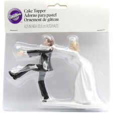 """Wilton CAKE TOPPER Oh No You Don't Humorous Funny Wedding Decorations 4"""" Height"""