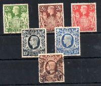 GB KGVI 1939-48 Arms High Value used set WS19440