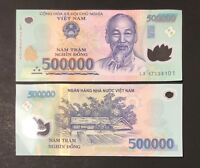 1 x 500,000 DONG VIETNAM DONG MONEY POLYMER CURRENCY BANKNOTE VIETNAMESE UNC
