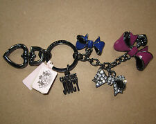 Juicy Couture Key Ring fob Purse Charm 3 Bows NEW