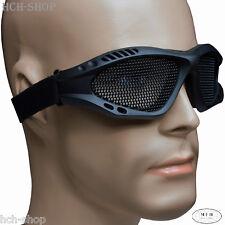 Airsoftbrille Metall-gittereinsatz Kunststoffrahmen verstellbares Gummiband