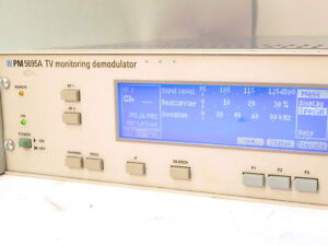 Phillips PM5695A TV Monitoring Demodulator, Option 912