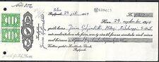 Iceland 1969 franked receipt Landsbanki