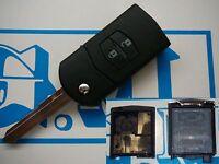 Chiave guscio cover completa per telecomando Mazda 2 3 5 6 ma SENZA elettronica