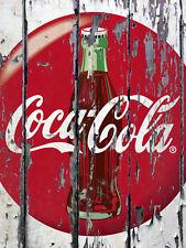 """Coca Cola, Retro metal Sign/Plaque, Gift 10"""" x 8"""" Large"""