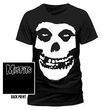 Misfits Skull Mens T-shirt Licensed Top Black XL