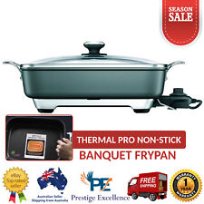 Large Electric Frypan New Banquet Family Breville Thermal Pro Non-Stick Cooking