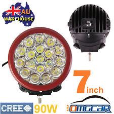 "PAIR 7"" 90W CREE LED DRIVING Work Light SPOT Offroad Beat HID 140W 160W 185W 12V"