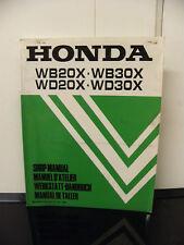 Honda WB20X WD20X WB30X WD30X Engine Service/Repair Mechanics Workshop Manual