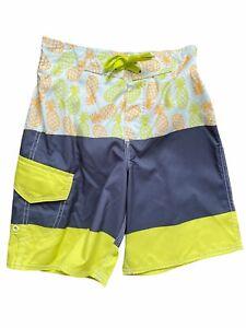 Joe Boxer Boys Pineapple Swim Trunk Ambrosia