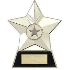 SILVER STAR METAL TABLE TOP TROPHY SCHOOL AWARD 12cm FREE ENGRAVING AP001S