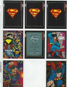 Superman card promo Lot 8 cards NM