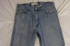 Levi 505 Straight Leg Zipper Fly Faded Denim Jeans Tag 33x32 Measure 33x32