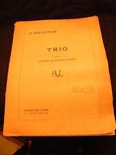 Partition Trio pour Hautbois Clarinette et Basson Villa Lobos