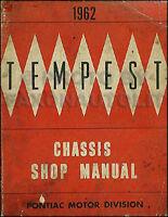 1962 Pontiac Tempest and LeMans ORIGINAL Shop Manual 62 OEM Repair Service Book