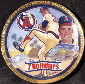 "1993 The Hamilton Collection Nolan Ryan Mr. Fastball 7"" Plate Sports Impressions"