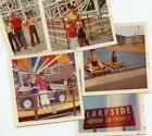 MZ135+Vtg+Photo+Lot+LAKESIDE+AMUSEMENT+PARK+ROLLER+COASTER+SLIDE+CARS+c+1973