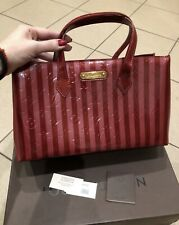 New Authentic Limited Edition LOUIS VUITTON Red Wilshire Patent Leather Handbag