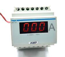 Hager Amperemeter Digital Indirekte 0 150a 4 Module Din Sm151