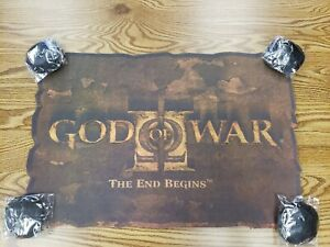 "God Of War 2 ""Rug"" Playstation 2 Ultra RARE Limited Editio promotional Marketing"