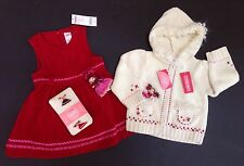 NWT Gymboree Peruvian Doll 18-24 Red Dolly Jumper Dress Hoodie Sweater & Tights