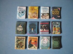Dolls House miniatures accessories - Hans Christian Anderson books x 12