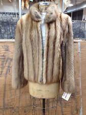 Canadian Sable And Leather Fur Coat Medium Premium Quality