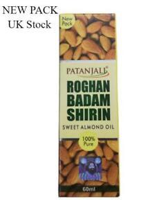 Swami Ramdev Patanjali UK - Badam Rogan Shirin (Sweet Almond Oil) 100% PURE 60ml