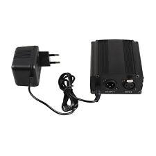 Recording Condenser Microphones 1-Channel 48V Phantom Power Supply w/ EU Adapter