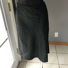 Banana Republic Women's 100% Linen Black A-Line Career Office Dress Skirt 8 MINT