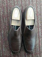 Rockport Brown Leather split Toe Gore Slip on Loafer Shoes Men's 11.5 M 503002