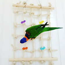 Funny Parrot Bird Pet Toy Rope Net Swing Ladder Toy Climbing Net Play Gym