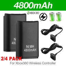For XBox 360 Controller USB Charger Cable Rechargeable 4800mAh Battery Pack USA