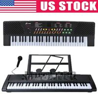 Electronic Interactive 54/61 Key Teaching Piano Keyboard with Stand+Microphone