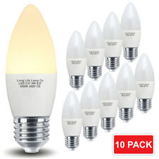 10 x 5W LED Candle Light Bulb E27 ES Frosted Energy Saving LED Lamp 10 Pack