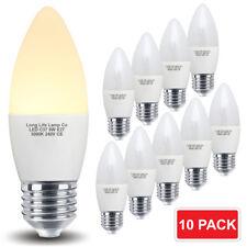 10 X 5W LED Bombilla Vela E27 LED de ahorro de energía Lámpara 10 Pack