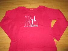 Tee-shirt rose foncé à motif,ML,T5/6ans,marque Elle,en TBE