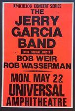 The JERRY GARCIA BAND w/BOB WEIR Original Concert Poster 1989 L.A. GRATEFUL DEAD