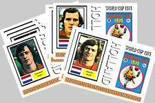 Holanda - 1974 Copa del Mundo Serie 1-conjunto de coleccionistas Postal