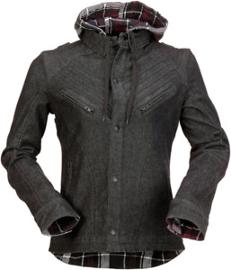 Z1R Women's Timberella Denim Shirt XS Black White 2840-0096