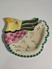 """Rare Fitz and Floyd Essentials Gypsy Chicks 9"""" Canape plate/wall hanging"""