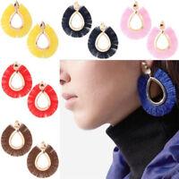 Bohemia Long Tassel Fringe Drop Dangle Stud Boho Earrings Women Fashion Jewelry