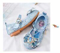 Elsa Bowknot Kids Girls Princess Elsa Fancy Up Party Sequin Bowknot elsa Shoes